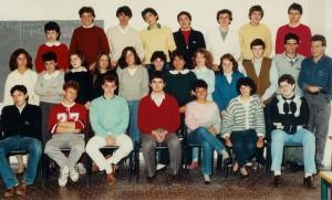 1985 - la 5A del Liceo Scientifico Casiraghi (Parco Nord)